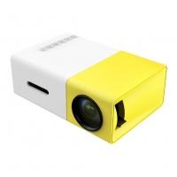 Домашний портативный мини-проектор LED желтый YG300