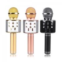 Микрофон караоке WS-858 Беспроводной Bluetooth HIFI