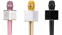 Беспроводной караоке-микрофон K-318 светящийся