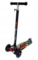 Детский самокат 21st Scooter Print maxi 4 светящиеся колеса, 50кг D12/7,5