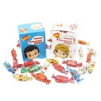 Жевательная резинка LOVE IS в подарочной упаковке в коробочке 25 жвачек.